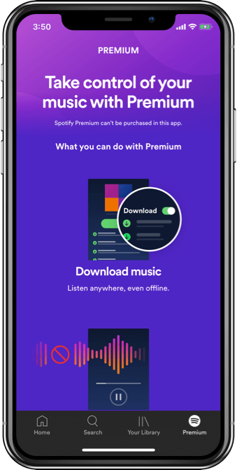 Take Control of your music with Premium